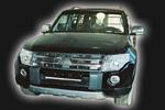 Накладка переднего бампера Mitsubishi Pajero Wagon 2007- (AD-Tuning, MPW-FS-01)