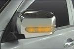 Зеркала с повторителями (хромированные) для Mitsubishi Pajero Sport 2008- (JMT, MSPORT.LED.01)