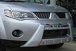 Защита переднего бампера Mitsubishi Outlander 2007- окрашенная (EGR)