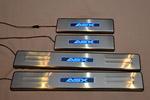 Накладки на пороги с подсветкой для Mitsubishi ASX (Kindle, MITS.ASX.PS01)