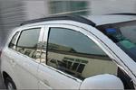 Комплект хром молдингов по периметру боковых стекол для Mitsubishi ASX 2012+ (Kindle, MA-D33-35)