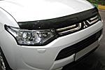 Дефлектор капота (темный) для Mitsubishi Outlander 2012- (EGR, 26231)