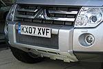 Защита переднего бампера Mitsubishi Pajero Wagon 2007- окрашенная (EGR)