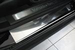 Накладки на внутренние пороги (нерж.) для Mercedes ML (W164) 2005-2011 (Nata-Niko, P-ME05)