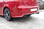 """Накладка заднего бампера """"Zodiak-Style1"""" Mitsubishi Lancer X (BK-Tun, ML103)"""