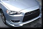 """Накладка переднего бампера """"Zodiak-Style1"""" на Mitsubishi Lancer X (BK-Tun, ML107)"""