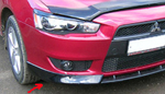 "Накладка переднего бампера ""Intense"" (боковые ""клыки"") на Mitsubishi Lancer X (BK-Tun, ML117)"