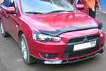 "Накладка переднего бампера ""Intense"" (боковые ""клыки"") на Mitsubishi Lancer X SportBack 2007- (BK-Tun, ML117)"