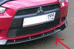 "Накладка переднего бампера ""Intense"" (центральная) на Mitsubishi Lancer X (BK-Tun, ML118)"