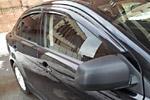 Дефлекторы окон «Mugen Style» Mitsubishi Lancer X (S-Line, MLX.WD.01)