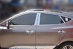 Комплект хром молдингов по периметру боковых стекол для Hyundai IX35 2010-2013 (Kindle, HT-D901-903)