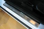 Накладки на внутренние пороги (нерж.) для Ford Mondeo IV 2007-(Nata-Niko, P-FO20)