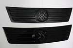 Накладка на решетку радиатора (для зимы, верхняя) Volkswagen Caddy 2003- (Omsa, VWCDY79041UP)