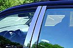 Хром накладки дверных стоек Audi Q7 (Omsa Prime, 1108139)