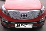 Накладка на решетку радиатора и бампера (гриль) KIA Sportage 2010- (BGT-PRO, RRBGR-KSPG)
