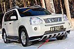 Накладка на решетку бампера (гриль) Nissan X-TRAIL T-31 07- (BGT-PRO, RBPGR-NXTR)