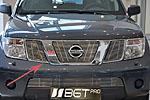 Накладка на решетку радиатора (гриль) Nissan Pathfinder 05- (BGT-PRO, RRGR-NISP)