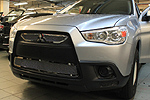 Накладка на решетку радиатора и бампера (сетка) Mitsubishi ASX 10- (BGT-PRO, BGT-KL-WM85324-T-B)