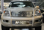 Накладка на решетку радиатора и бампера (гриль) Toyota LC Prado 120 02- (BGT-PRO, RRBGR-LCPRAD)
