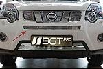 Накладка на среднюю решетку радиатора (гриль) для Nissan X-Trail 2010- (BGT-PRO, RRSRGR-NT32)