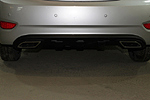 Накладка на задний бампер для Hyundai Accent (2011) (BGT-PRO, NAKZB-HYU-ACC11)