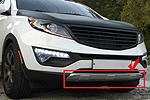 Накладка на передний бампер Kia Sportage 2010-2014 (Kindle, KSP-B04)