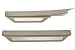 Накладки на пороги с подсветкой (бежевые) для Toyota Camry V40/V41 (BGT-PRO, NP-TOYCAM-V40/V41)