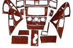 Декоративные накладки в салон под дерево Toyota Camry 2007- (Clifford, GS108)