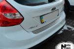 Накладка на задний бампер для Ford Focus III (5D) 2010+ (NataNiko, B-FO12)
