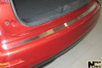 Накладка на задний бампер для Nissan Juke 2010+ (NataNiko, B-NI02)