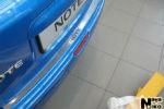 Накладка на задний бампер для Nissan Note 2005+ (NataNiko, B-NI06)