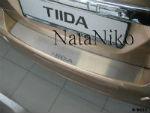 Накладка на задний бампер для Nissan Tiida 5D 2007+ (NataNiko, B-NI11)