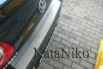 Накладка на задний бампер для Volkswagen Passat B6 (4D) 2006+ (NataNiko, B-VW17)