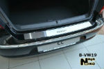 Накладка на задний бампер для Volkswagen Passat CC 2008+ (NataNiko, B-VW19)