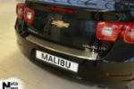 Накладка (с загибом) на задний бампер для Chevrolet Malibu VIII 2012+ (NataNiko, Z-CH15)