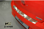 Накладка (с загибом) на задний бампер для Hyundai I20 2009- (NataNiko, Z-HY09)