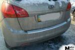 Накладка (с загибом) на задний бампер для Kia Venga 2010- (NataNiko, Z-KI04)