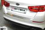 Накладка (с загибом) на задний бампер для Kia Optima III FL 2013+ (NataNiko, Z-KI09)