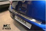 Накладка (с загибом) на задний бампер для Nissan Micra 2010- (NataNiko, Z-NI03)