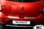 Накладка (с загибом) на задний бампер для Renault/Dacia Sandero II 2012+ (NataNiko, Z-RE12)