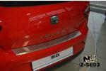 Накладка (с загибом) на задний бампер для Seat Ibiza IV 3D 2009- (NataNiko, Z-SE03)