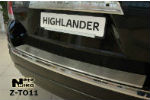 Накладка (с загибом) на задний бампер для Toyota Highlander 2007- (NataNiko, Z-TO11)