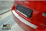 Накладка (с загибом) на задний бампер для Toyota Venza 2013+ (NataNiko, Z-TO17)