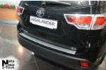 Накладка (с загибом) на задний бампер для Toyota Highlander III 2013+ (NataNiko, Z-TO19)