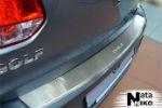 Накладка (с загибом) на задний бампер для Volkswagen Golf VI 5D 2008- (NataNiko, Z-VW09)