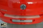 Накладка (с загибом) на задний бампер для Volkswagen Polo V 5D 2009- (NataNiko, Z-VW23)