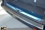 Накладка (с загибом) на задний бампер для Volkswagen T5 Transporter 2003- (NataNiko, Z-VW29)