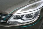 Хромированные накладки передних фар для VW Tiguan 2011-2015 (Kindle, TG-L31)