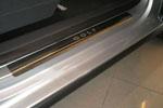 Накладка на пороги VW Golf 5 + 2005 (Alu-Frost, Art. 482 NR-9)