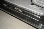 Накладки на пороги Kia Rio II 2005-2011 (Alu-Frost, 08-1255)